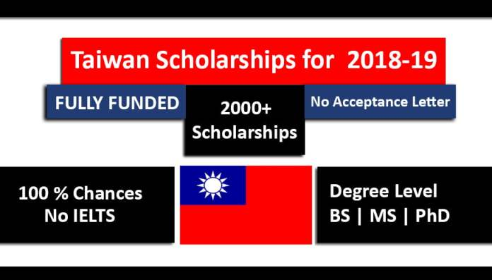 Taiwan Scholarships 2018-19 for International Students – Fully Funded