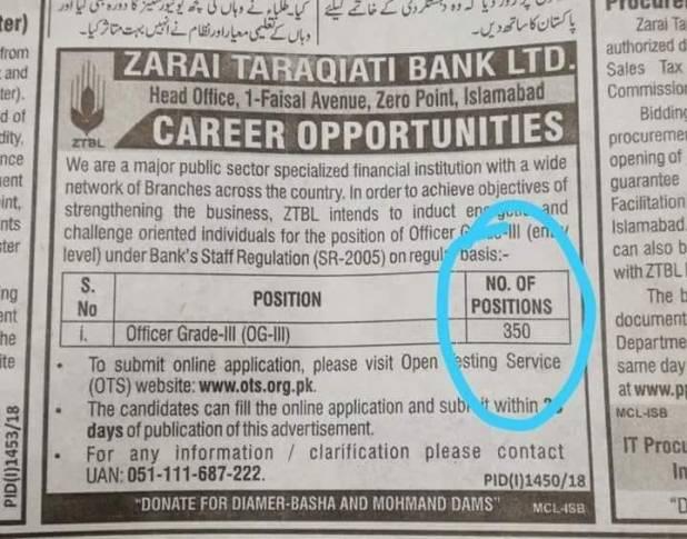 Zarai-tarqiati-bank-ztbl--jobs