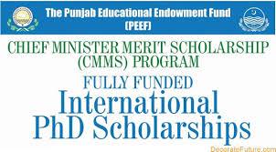 PEEF International Scholarship for Ph.D 2019