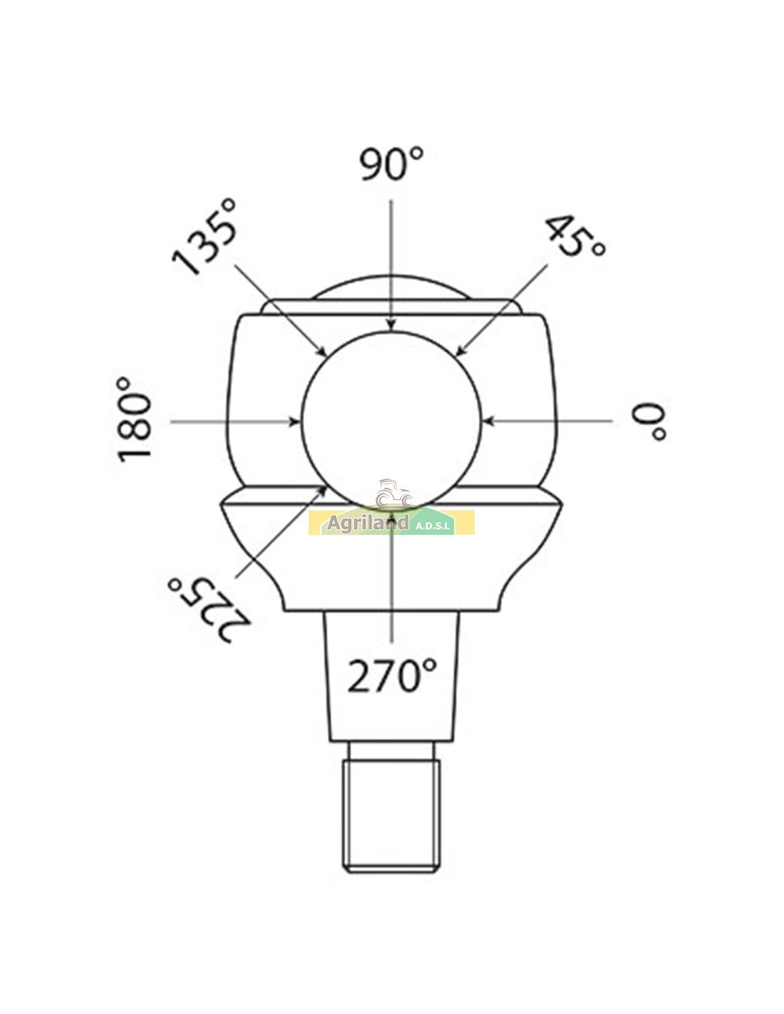 Rotule de barre de direction 566196 , 588837 , 596196