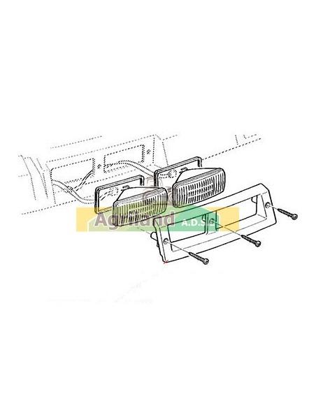 Ensemble de lampe de cabine avant adaptable 12V 55W