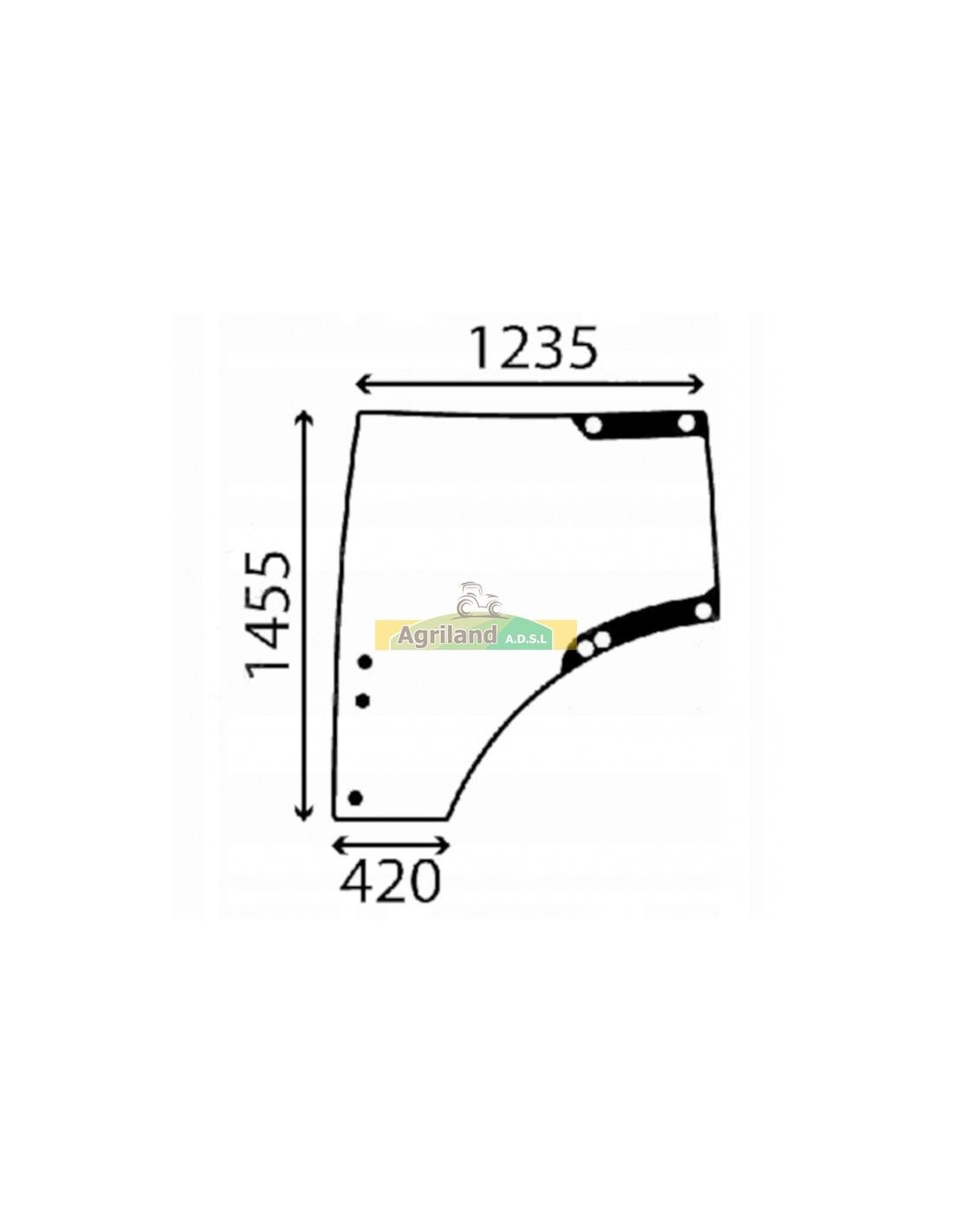 Vitre de porte gauche bombée et teintée L207690 , L212967