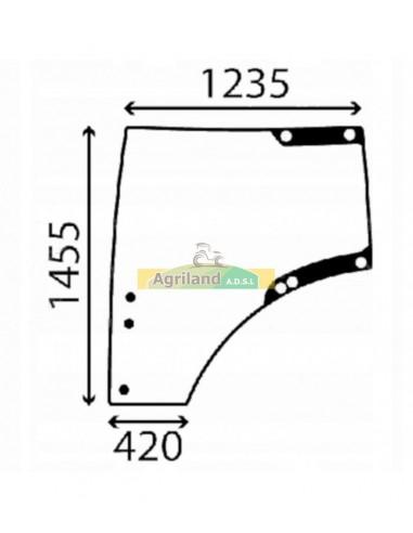 Vitre de porte droite bombée et teintée L207691 , L212968