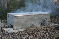 Anatomy of a cinder-block pit - Texas Barbecue