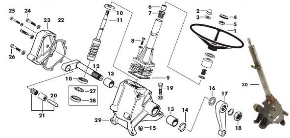 Massey Ferguson 165 Steering Box Parts