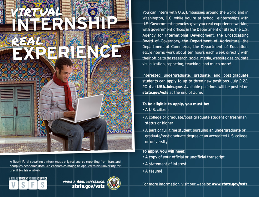 Virtual Student Foreign Service ad