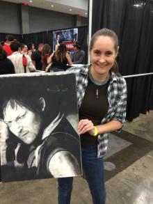 Norman Reedus Signed Charcoal
