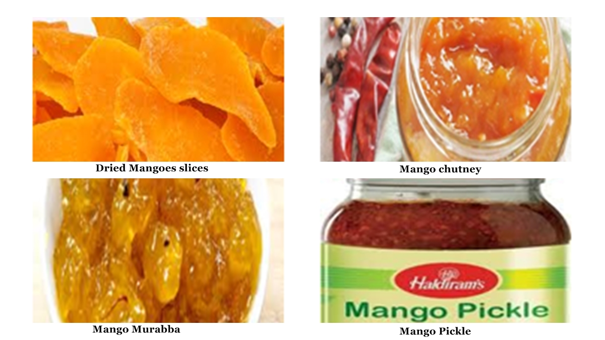 Processing of Green, Semi-ripe and Ripe Mangoes