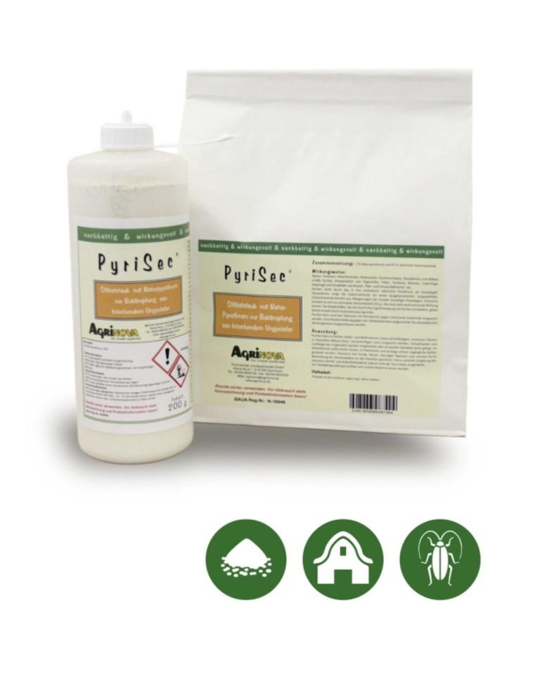 PyriSec® Sofort- und Langzeitbiozid auf Basis von Kieselgur und Naturpyrethrum - 1 kg