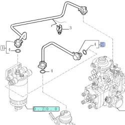 Złączka Końcówka przewodu paliwowego pompki filtra Case