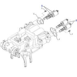 Elektrozawór skrzyni biegów napędu new holland T8 T9 Case