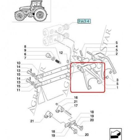 SKR9056 Widełki Case MXM Puma New Holland TM T6000 TM7000