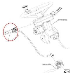 ELE51107 Przełącznik wycieraczek Case MXU Maxxum Puma New