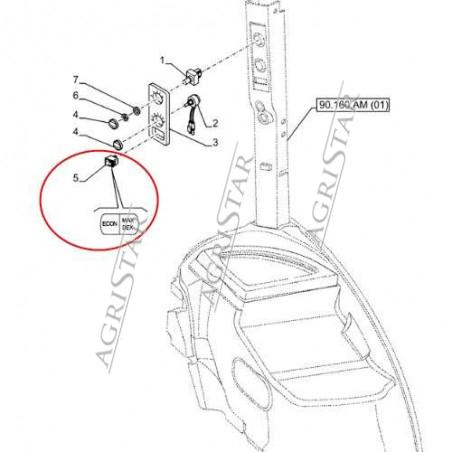 ELE51120 Przełącznik klimatyzacji Case Maxxum Puma New Holland