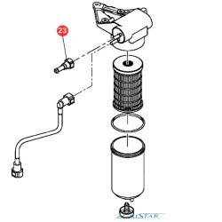 SUP7017 Złączka przewodów paliwowych pompki