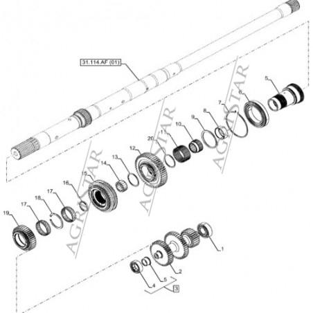 Koło zębate wałka skrzyni biegów 47126621