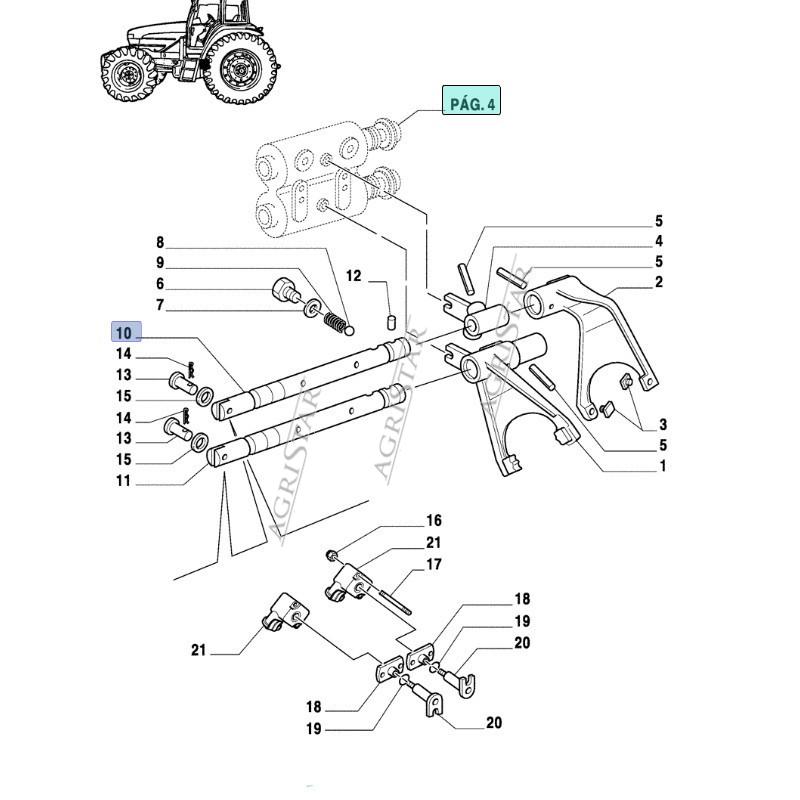 Wałek Skrzyni Case MXM, Fiat M Ford , New Holland 5164814