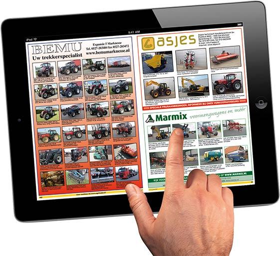 Tablet abonnement op Agri Trader