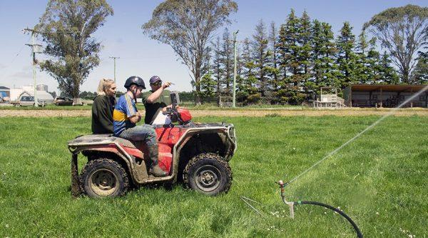 Farmers on quadbike