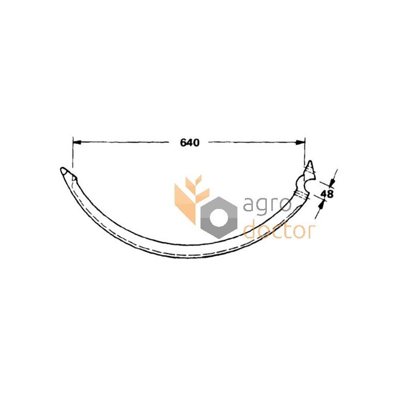 Baler needle (steel) F2526 Case-IH OEM:F2526 for CASE