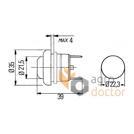 Pushbutton 822069.01 Claas OEM:822069 for Claas, order at