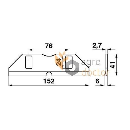 Knife head guide 206196M1 Massey Ferguson OEM:206196M1