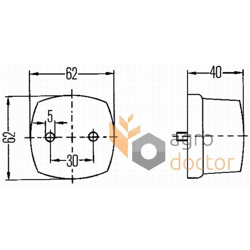 Rear light for combines 06515208 Deutz Fahr [Hella] OEM