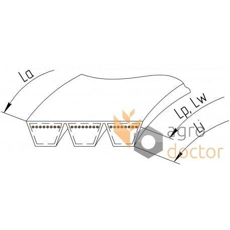 Wrapped banded belt 3HB-2450 [Roflex] OEM:980851 for Claas