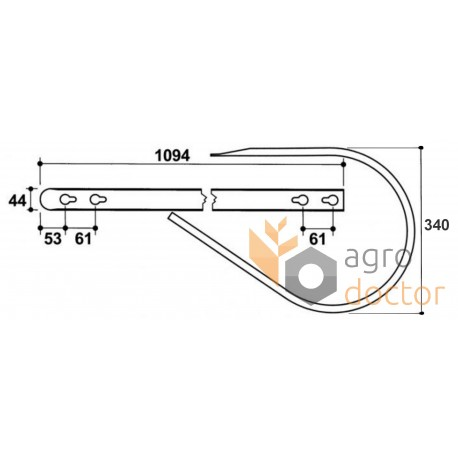 Baler pickup guide band 1257.52.15.02 Welger OEM:1257.52