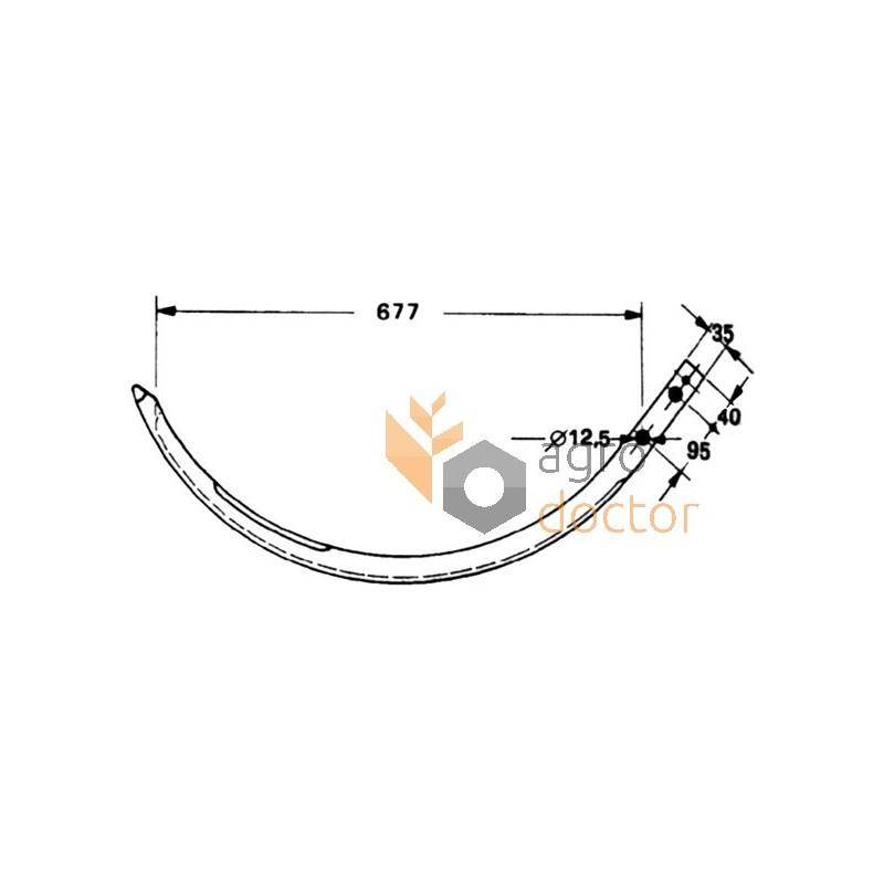 Baler needle (steel) 808330 Claas OEM:808330 for Claas