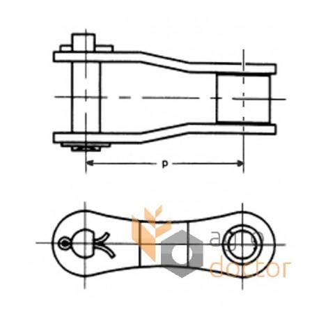 S55 Roller Chain Offset Link OEM:AZ28032 for John Deere
