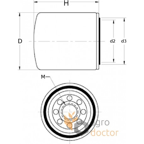 Cooling system filter 24071 [WIX] OEM:1649136C1, BW5071