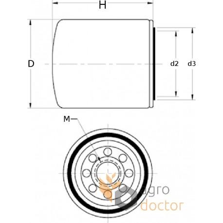 Cooling system filter WF2071 [Fleetguard] OEM:WF2071 for