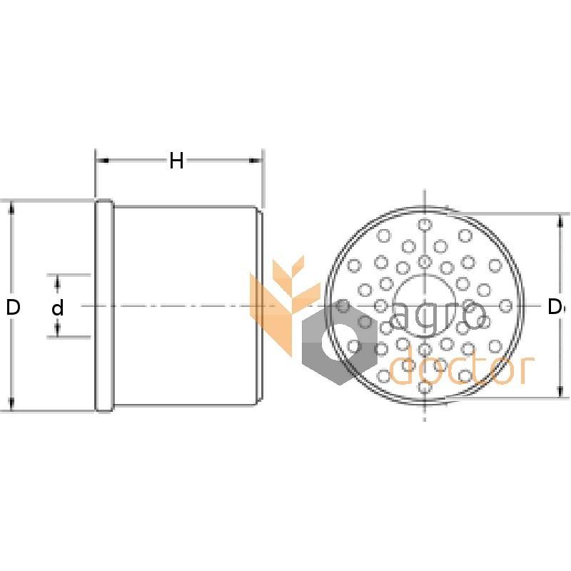 Fuel filter (insert) P502420 [Donaldson] OEM:P502420