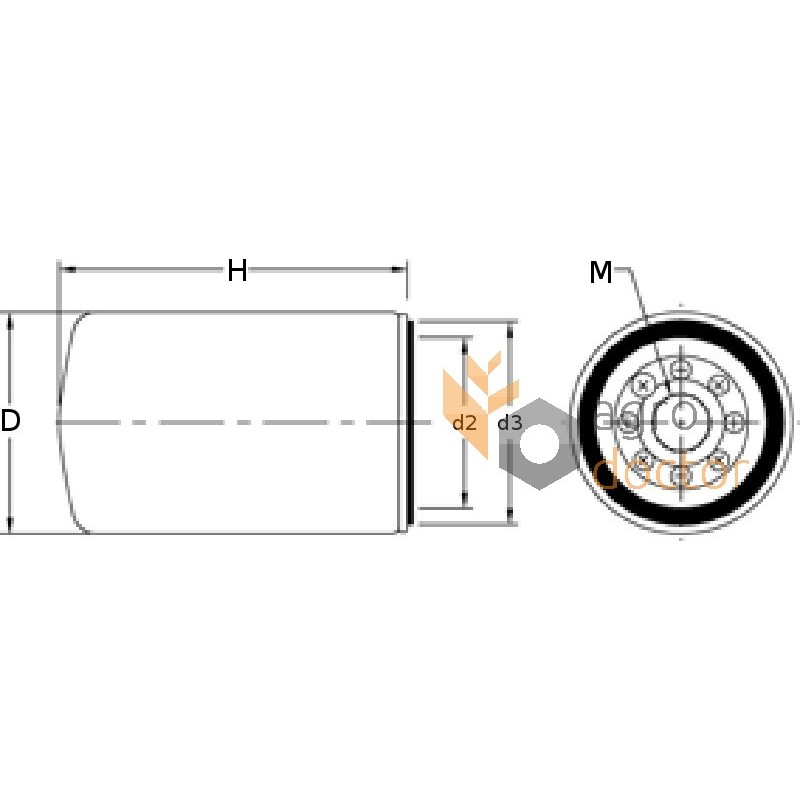 Fuel filter DF 694 [M-Filter] OEM:656501.0 for CASE, Claas