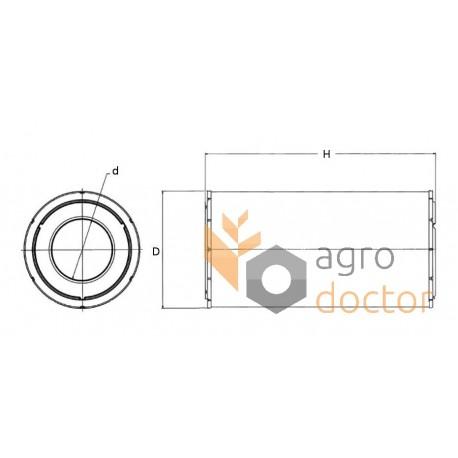 Air filter SA17206 [HIFI] for Caterpillar, Claas, Buy in