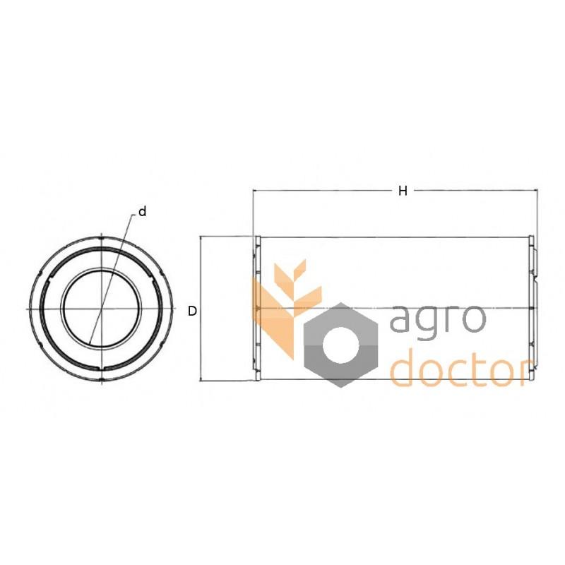 Air filter SA17206 [HIFI] for Caterpillar, Claas Combine
