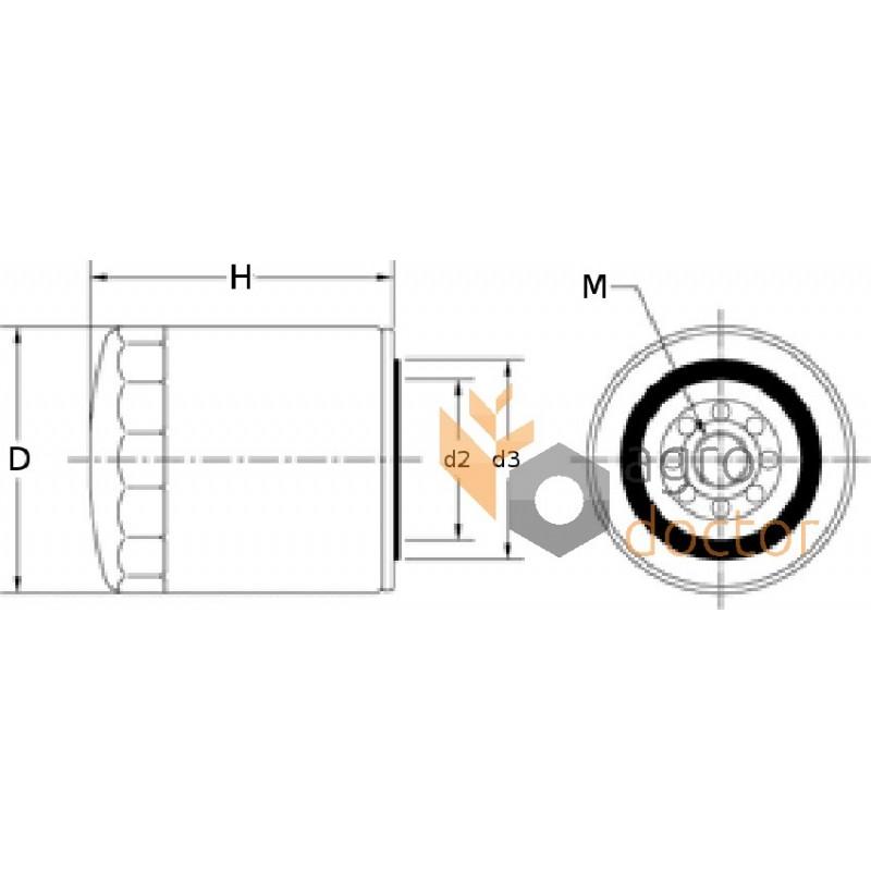 Oil filter OC 26 [Knecht] OEM:P552819, P555680 for Case-IH