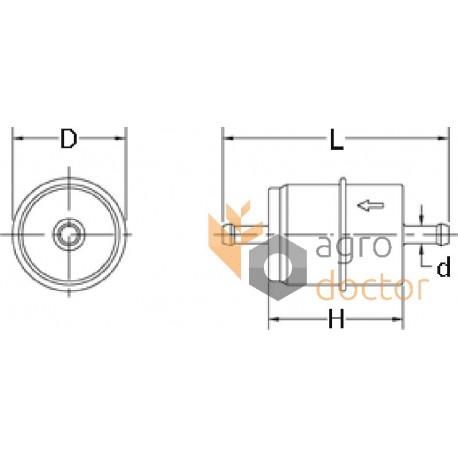 Fuel filter FF5079 [Fleetguard] OEM:FF5079 for CASE