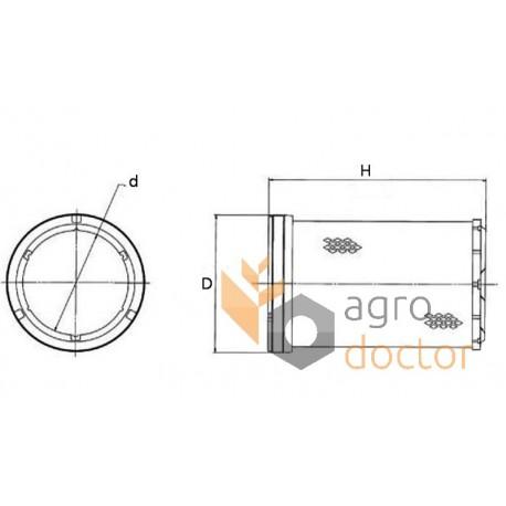 Air filter 46665 [WIX] OEM:RE51630 for John Deere, Buy in