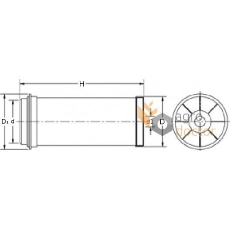 Air filter 49710 [WIX] OEM:545993.0, 49710 for Caterpillar