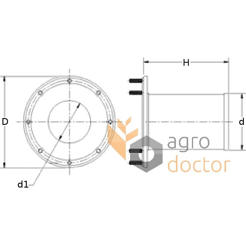 Filter for electrical fuel pump AL78405 for Case-IH, John