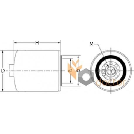 Fuel filter P550753 [Donaldson] OEM:RE522372, P550753 for