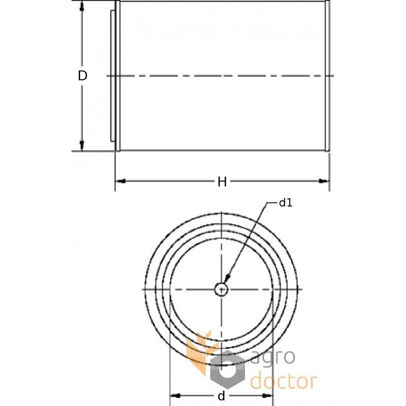 Oil filter (insert) PF 1025 [MANN] OEM:133031, PF1025 for