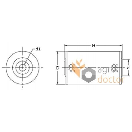 Fuel filter (insert) 099104/099105 (2 pcs.) [Agro Parts