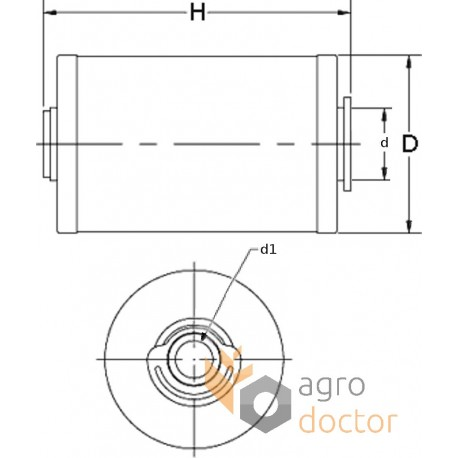 Fuel filter (insert) 133602 Claas [Agro Parts] OEM:133602