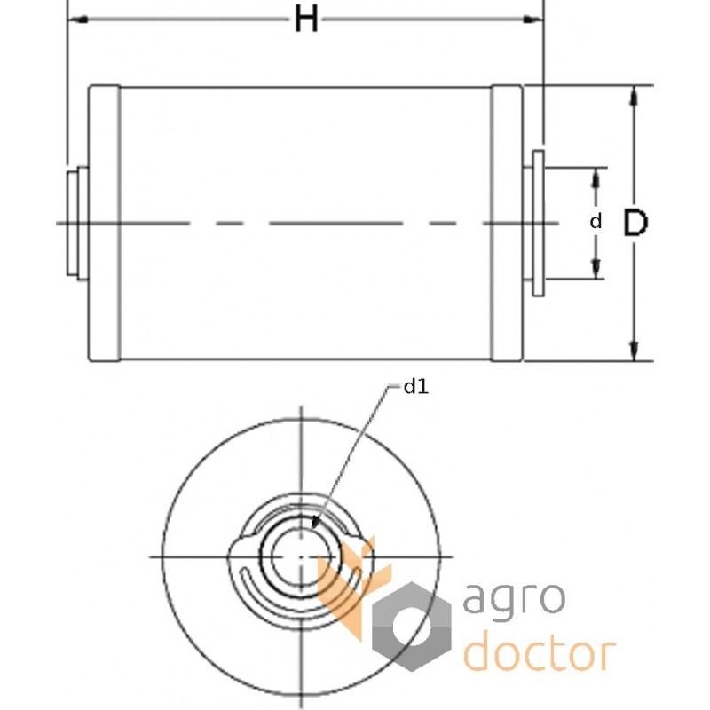 Fuel filter (insert) P550861 [Donaldson] OEM:P550861