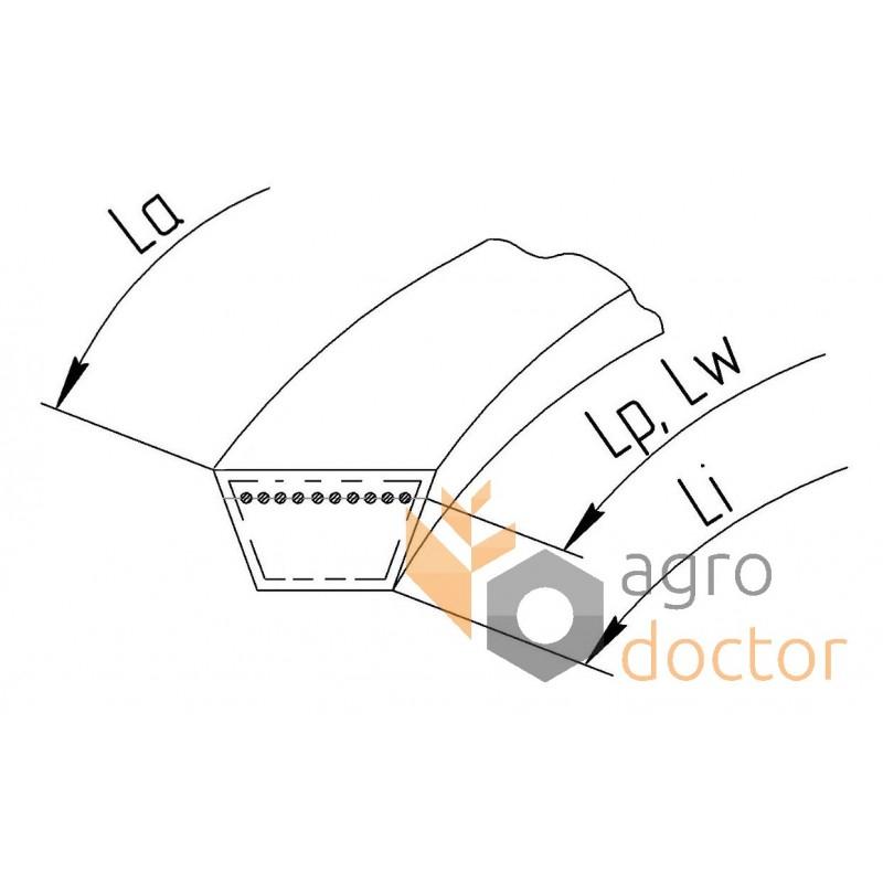 Variable speed belt 1403239 [Gates Agri] OEM:673638 for