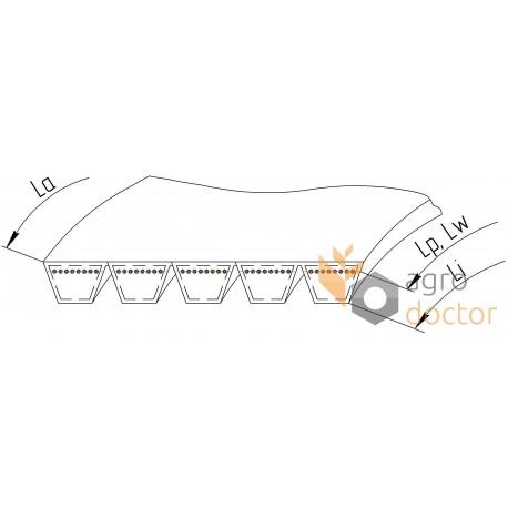 667453 [Claas] Wrapped banded belt 5HB-3290 Harvest Belts