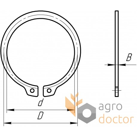 237862 Outer snap ring for farm maschinery Claas OEM